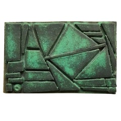 Glazed Green Ceramic Tile by Judy Engel