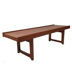Torbjørn Afdal for Bruksbo Sturdy Teak Bench or Table from Norway