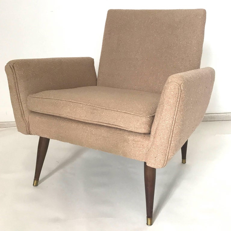 Stunning structural pair of lounge chairs in the manner of Paul McCobb.