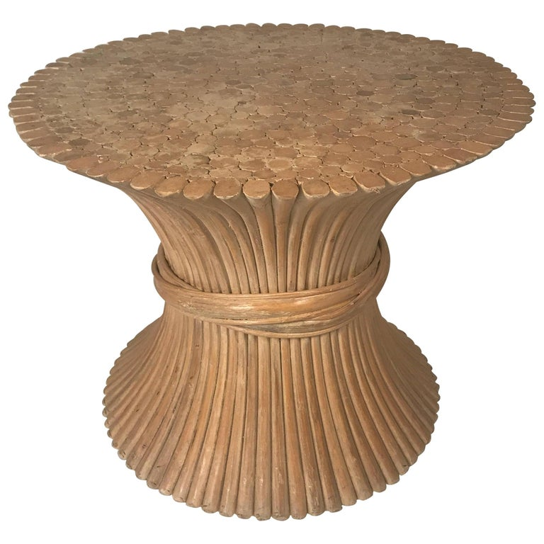 John And Elinor Mcguire Round Bamboo Coffee Or Centre Table Gl Available For