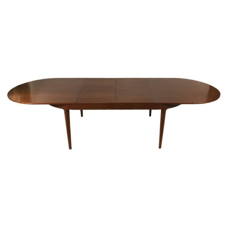 Danish Modern Round Rosewood Dining Table With Extension For Sale At - Danish modern kitchen table