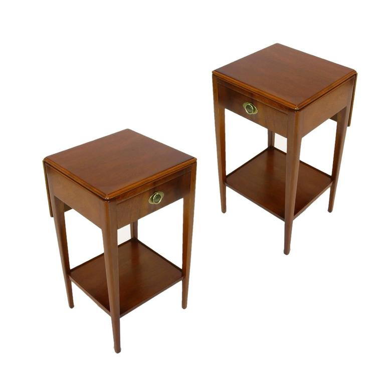bedroom set furniture pair of nightstands or bedside tables by johnson furniture 10628