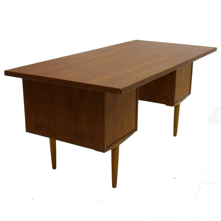 excellent sleek and functional arne vodder teak desk with