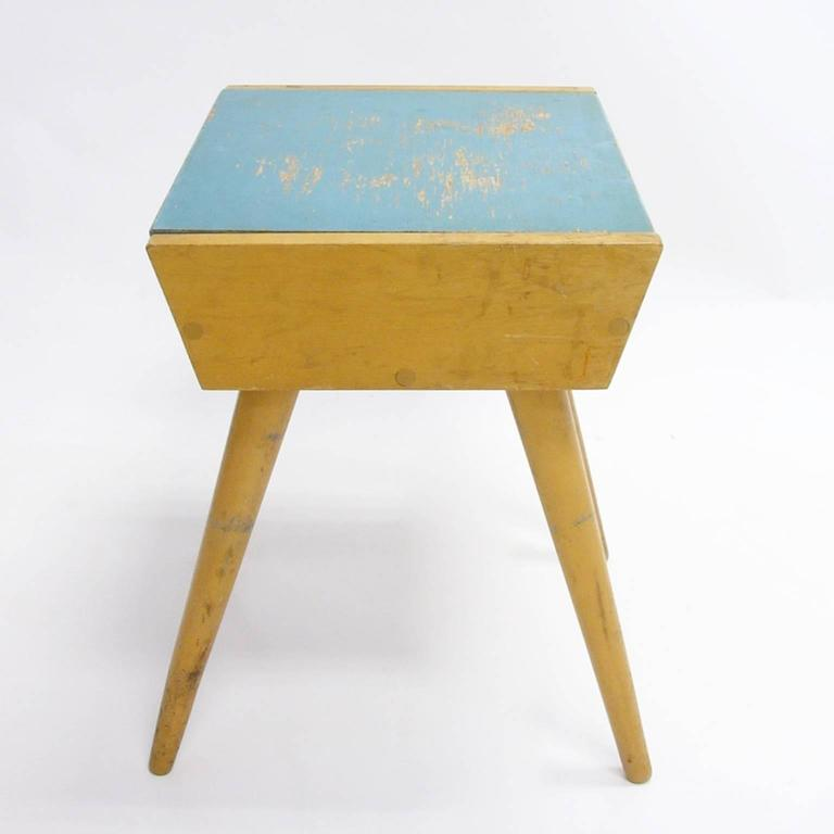 Carriage trade modern midcentury birch sewing or storage box end table for sale at 1stdibs - Contemporary side tables with storage ...