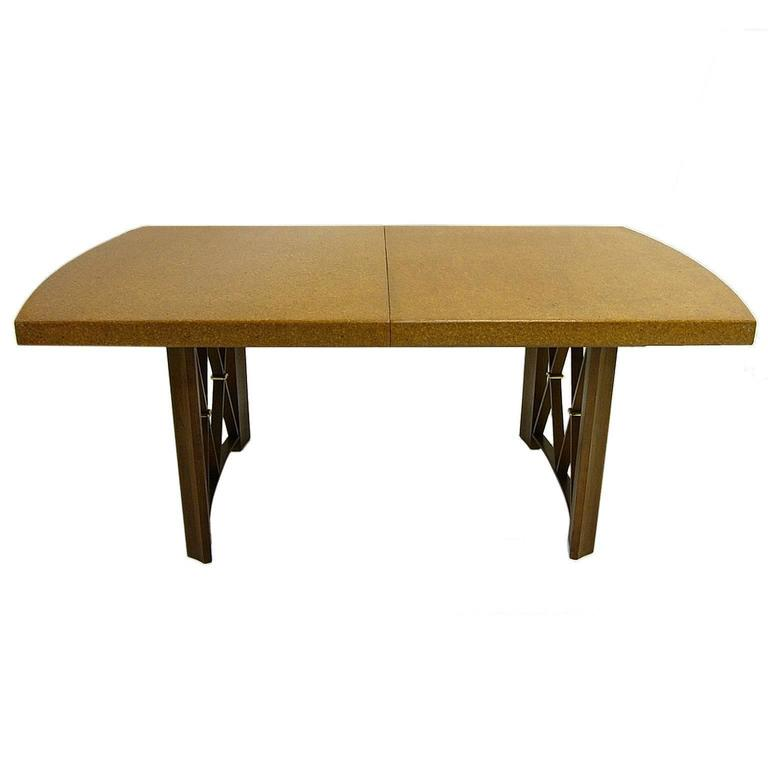 Stunning Paul Frankl Cork Top Dining Table by Johnson Furniture Company For Sale 1