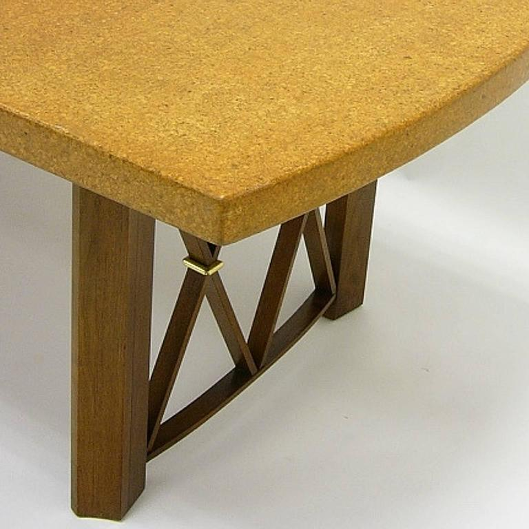 Mid-20th Century Stunning Paul Frankl Cork Top Dining Table by Johnson Furniture Company For Sale