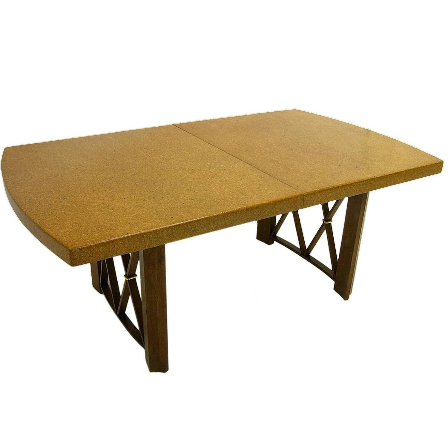 Paul Frankl Cork Top Dining Table By Johnson Furniture