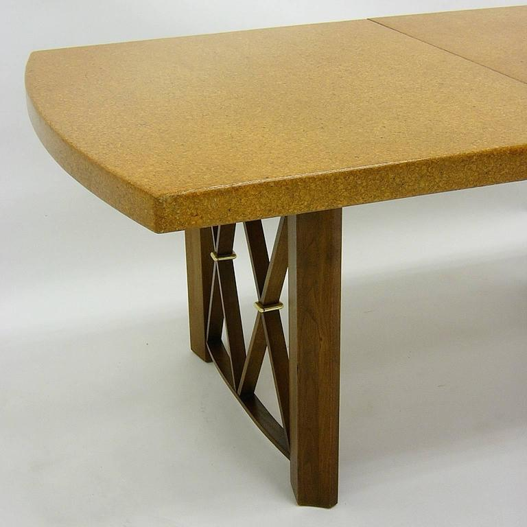Mid-Century Modern Stunning Paul Frankl Cork Top Dining Table by Johnson Furniture Company For Sale