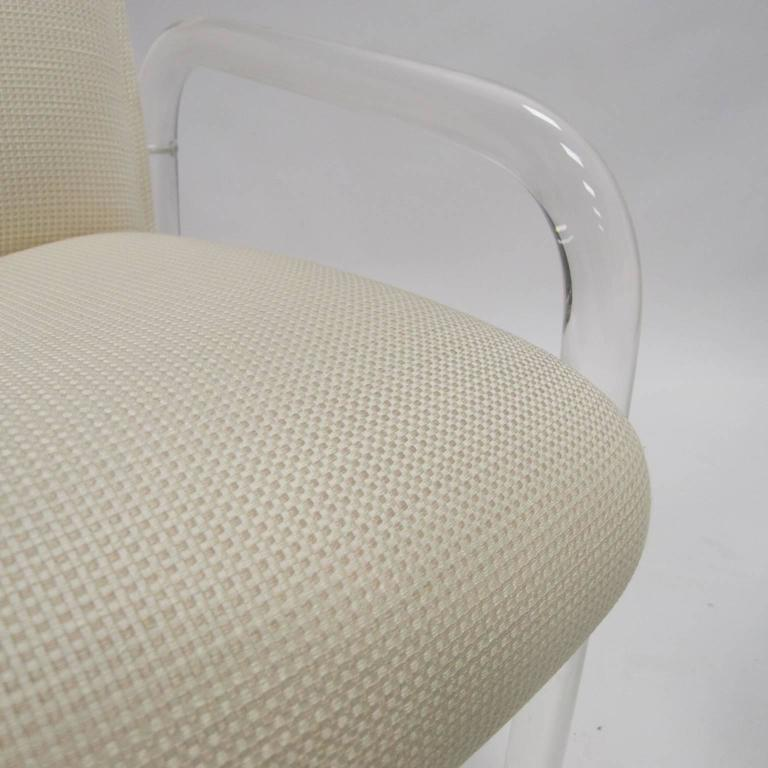 Pair Heavy Leon Lion In The Frost Lucite Armchairs With