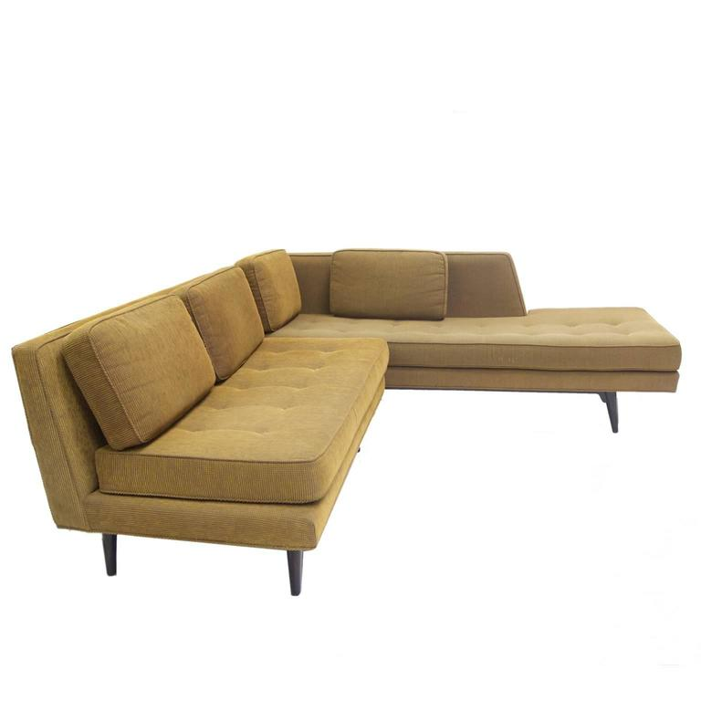 Mid-Century Modern Rare Edward Wormley for Dunbar Sectional Sofa For Sale