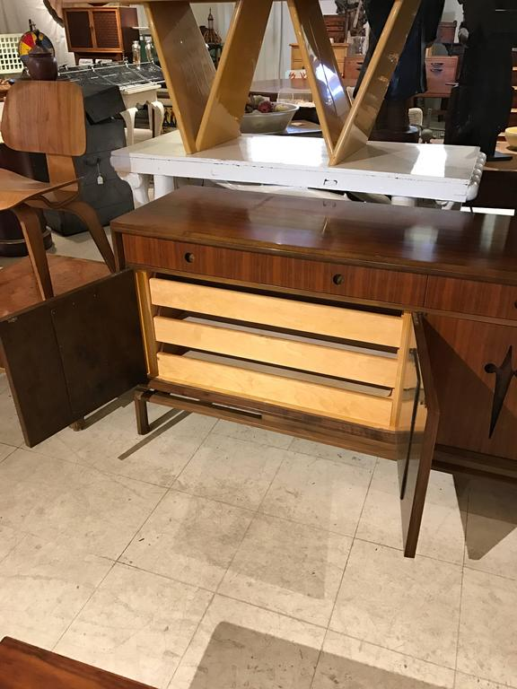 Decorative Midcentury Edmond J. Spence Stilted Walnut Credenza/Sideboard 8