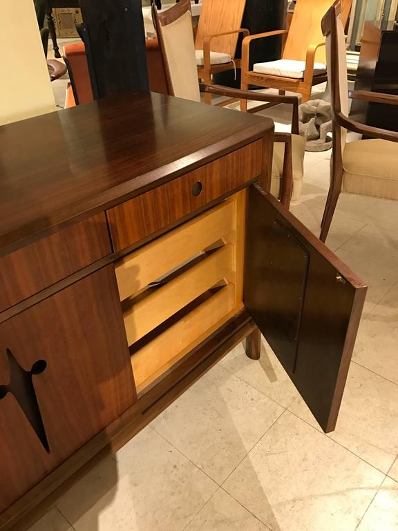 Decorative Midcentury Edmond J. Spence Stilted Walnut Credenza/Sideboard 3