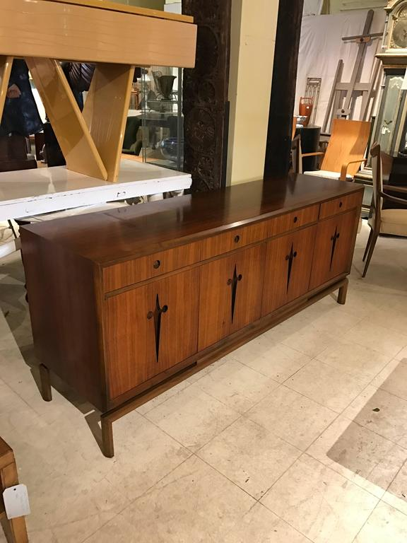 Decorative Midcentury Edmond J. Spence Stilted Walnut Credenza/Sideboard 4