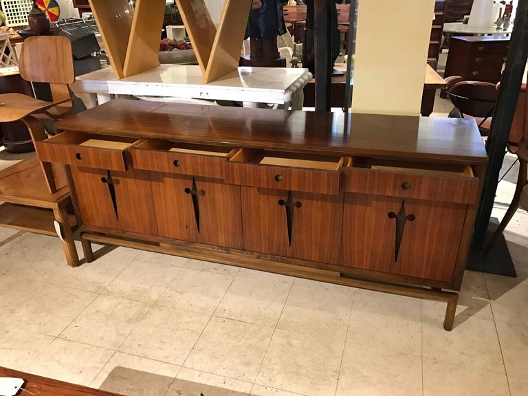 Decorative Midcentury Edmond J. Spence Stilted Walnut Credenza/Sideboard 7