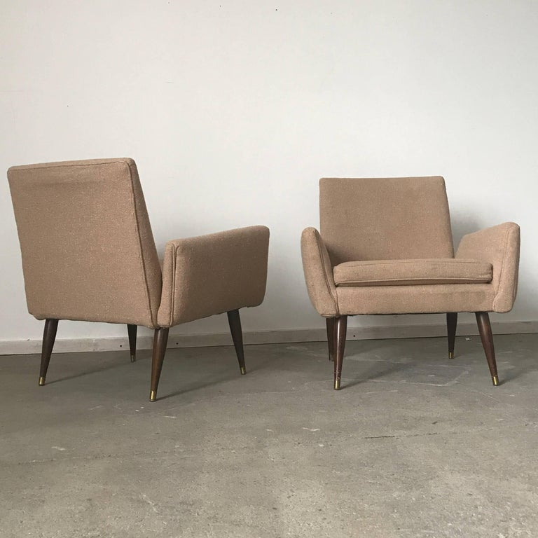 American Pair of Midcentury Structural Lounge Chairs in the Manner of Paul McCobb For Sale