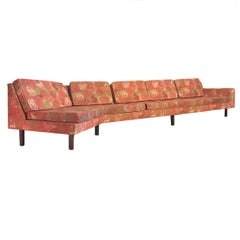 "Harvey Probber Sofa W .""Chrysanthemum"" Fabric by Dd & Leslie Tillett"