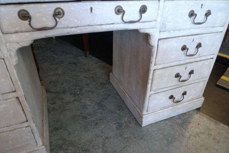 English 19th Century Painted Knee-Hole Writing Desk 7