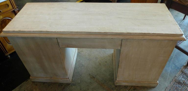 English 19th Century Painted Knee-Hole Writing Desk 9