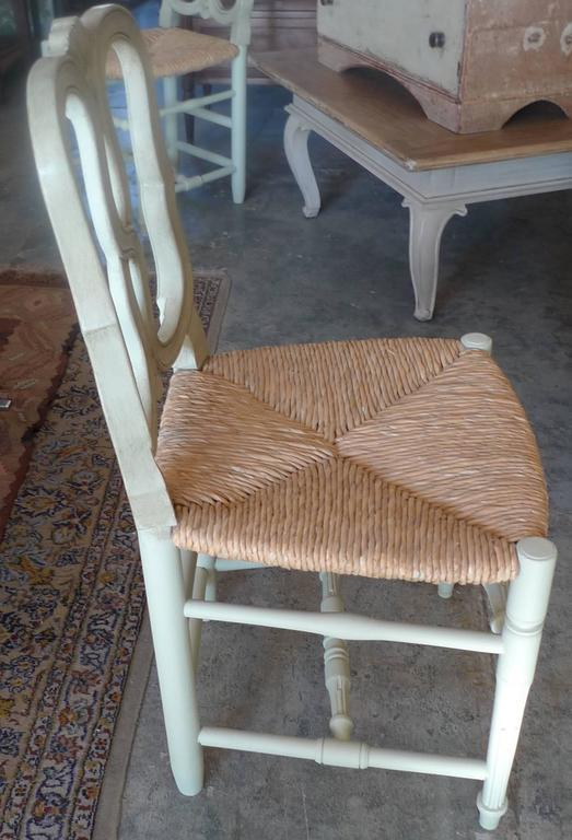 Reproduction Louis XVI Rush Seat, Dining-Chair with Large Seat 4
