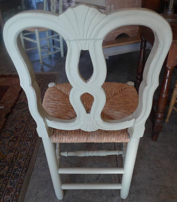 Reproduction Louis XVI Rush Seat, Dining-Chair with Large Seat 5
