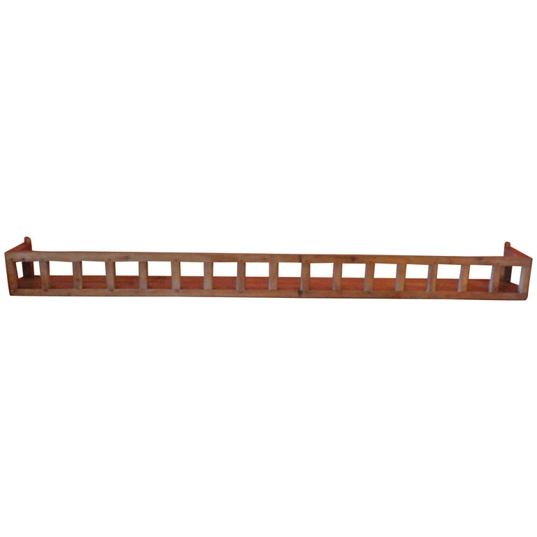 French 19th Century Long Stained Pine Kitchen Rack