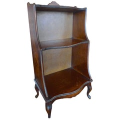 French 19th Century Small Stained Walnut Two Shelf Book Case