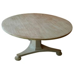 Late 20th Century Swedish Style Alder-Wood Round Pedestal Table