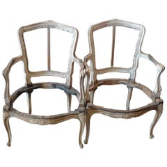 Two French 18th Century Louis XVI Armchairs. Sold As Is.