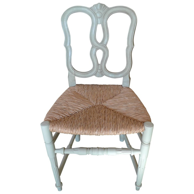 Reproduction Louis XVI Rush Seat, Dining-Chair with Large Seat