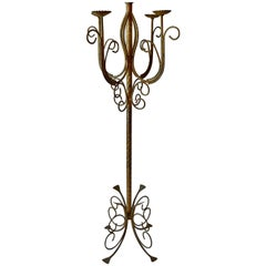 French 19th Century Torchère or Floor Lamp with Four Exterior Lights