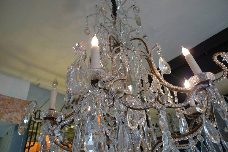 Kronleuchter Birnen ~ Französisch der 1940er jahre kristall und glas kronleuchter auf