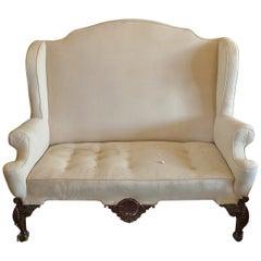 English XVIII Georgian Wingback Sofa
