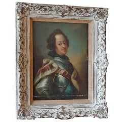 French 18th Century Nobleman Oil on Canvas