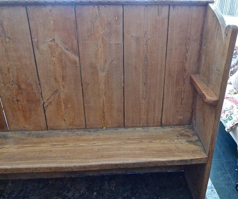Pew Bench Seating Kitchen Ct: English 19th Century Stained Pine Church Pew For Sale At