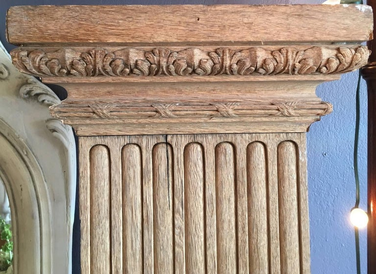 Two French 19th Century Hand Carved Walnut Panels For Sale 1