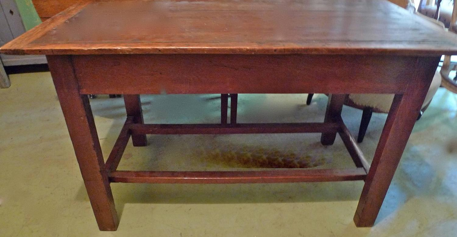 French 19th Century Small Country Table Or Desk With Small Centre Drawer For