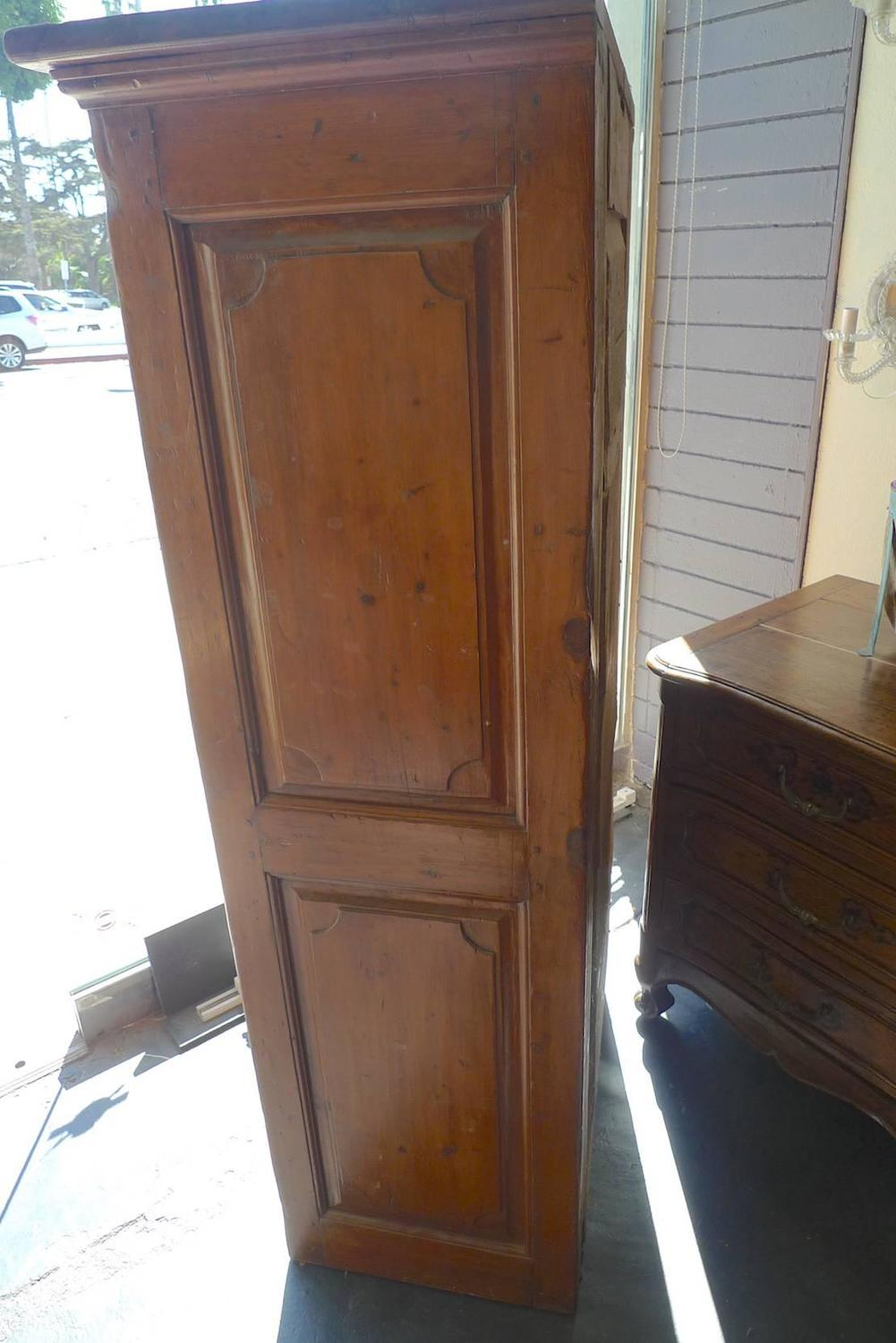 antique cabinets 19th century narrow armoire or cupboard for at 10630