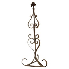 Spanish Pierre Lottier 1960s Wrought Iron Floor Lamp with One Centre Light