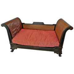 French 19th Century Rattan Chaise Longue