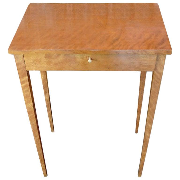 Austrian 19th Century Biedermeier Vanity Side Table.