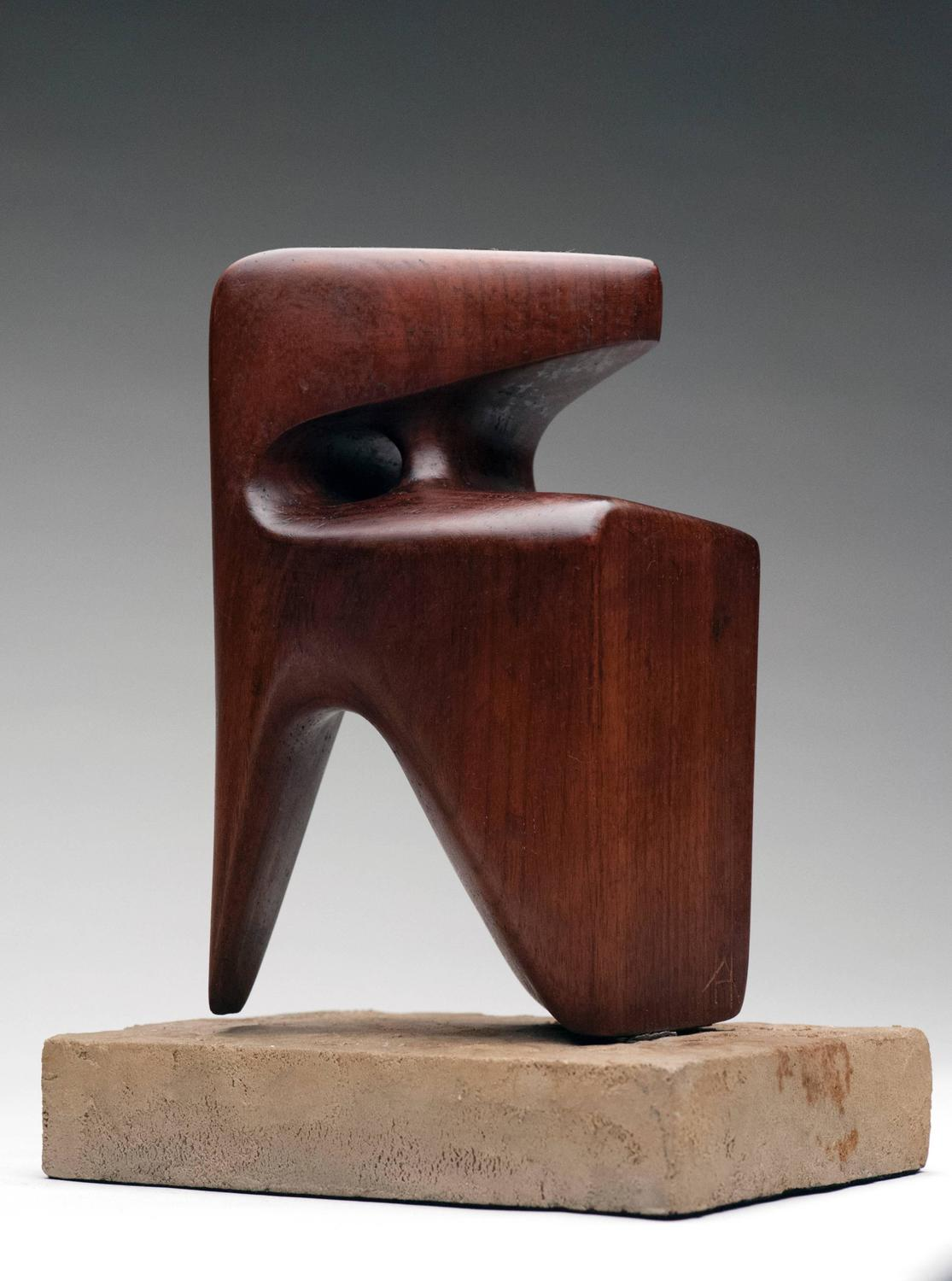 Modern abstract wood sculpture signed at 1stdibs for Modern decorative objects