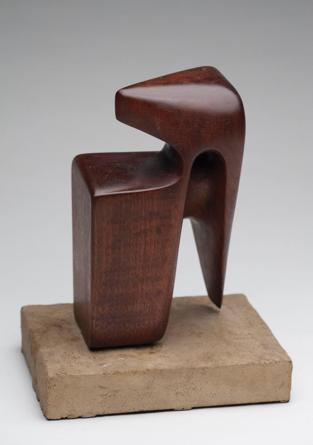 Modern abstract wood sculpture signed at stdibs