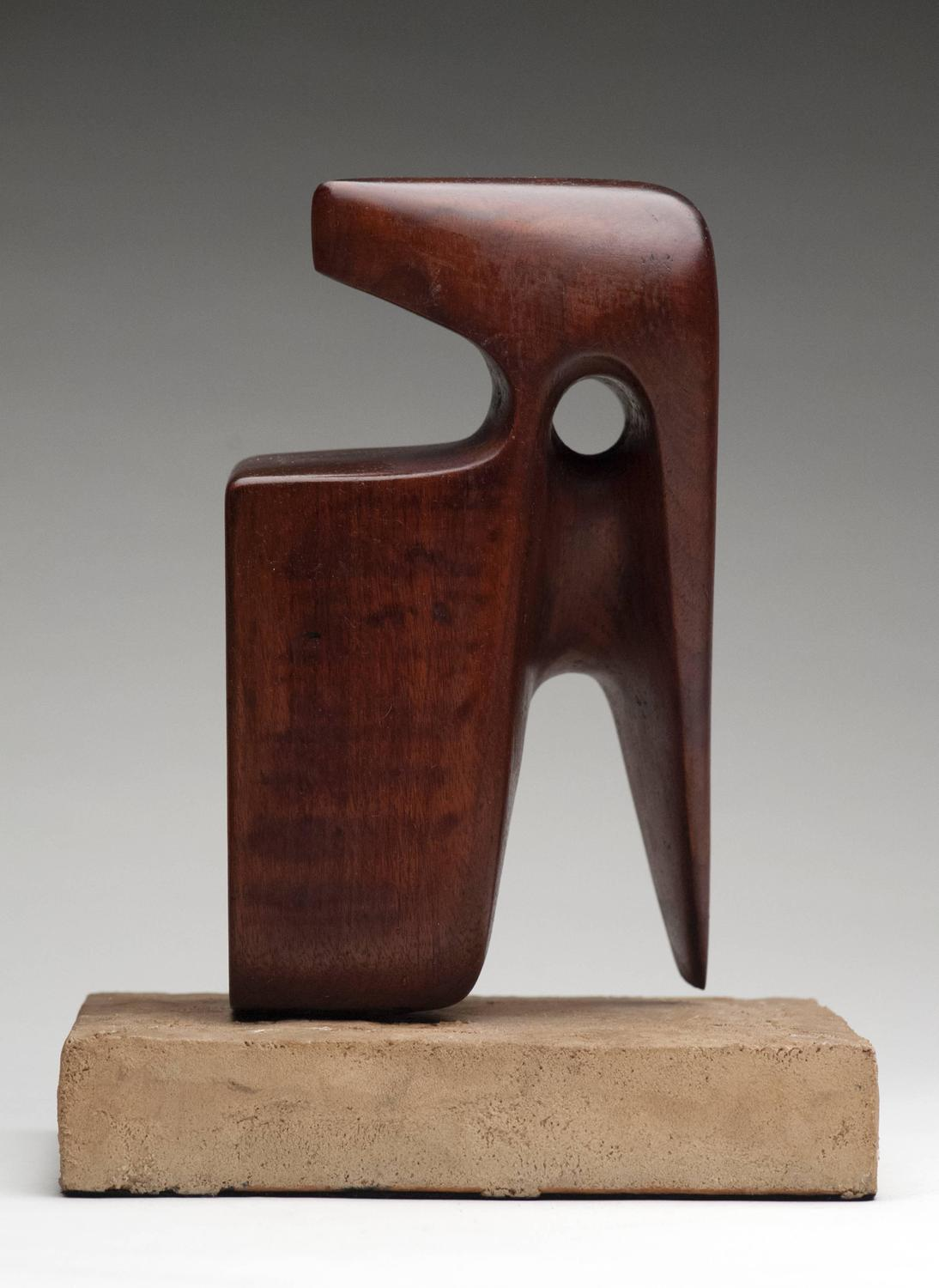 Modern Abstract Wood Sculpture Signed At 1stdibs