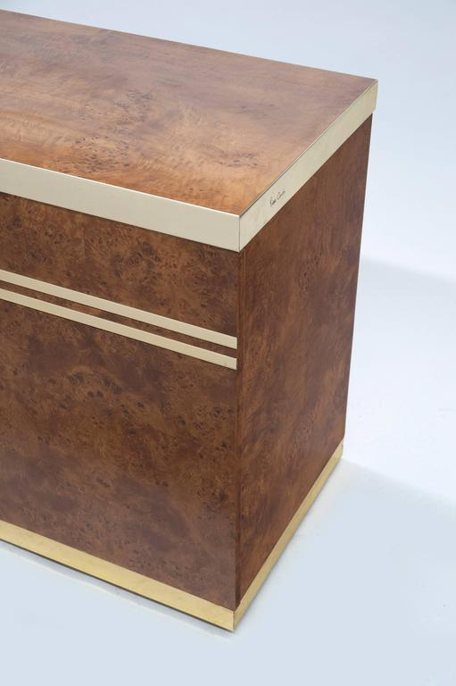 1970s burl wood cabinet by pierre cardin for sale at 1stdibs for Burl wood kitchen cabinets