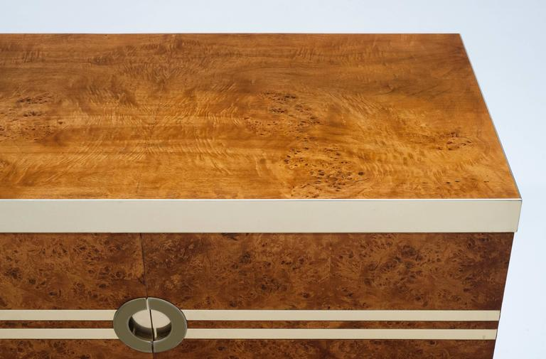 1970s burl wood cabinet by pierre cardin at 1stdibs for Burl wood kitchen cabinets