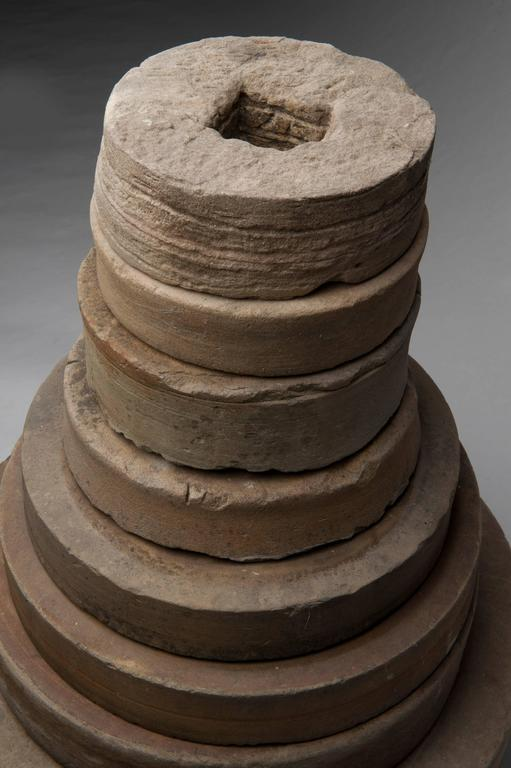 Antique Grinding Stone Ornament Outdoor Sculpture For