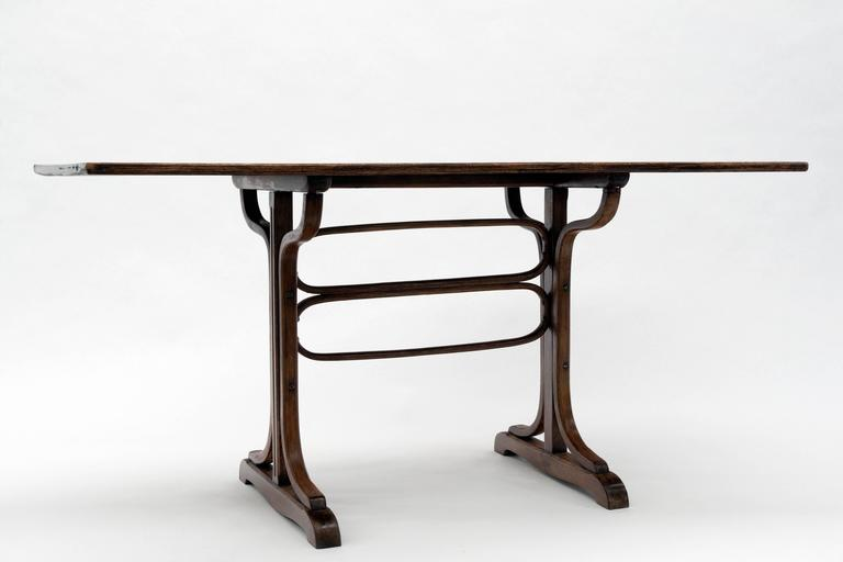 Austrian Antique Bentwood Thonet Table For Sale