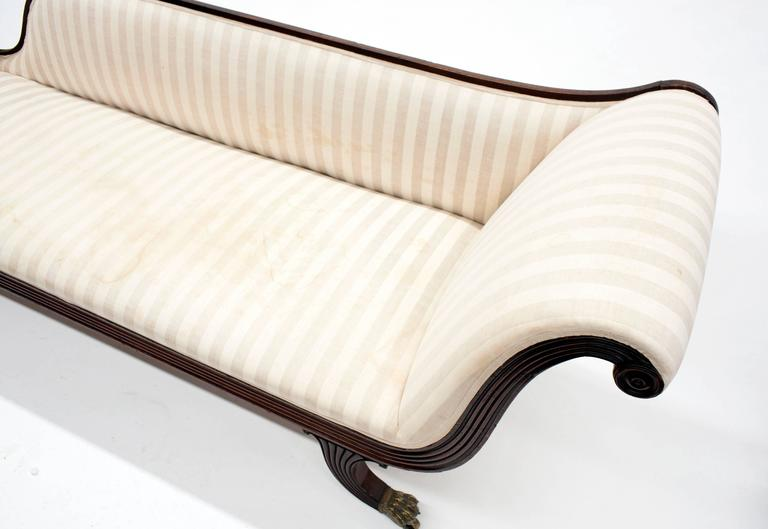 Classic Federal Antique Chaise Lounge Recamier Circa 1820