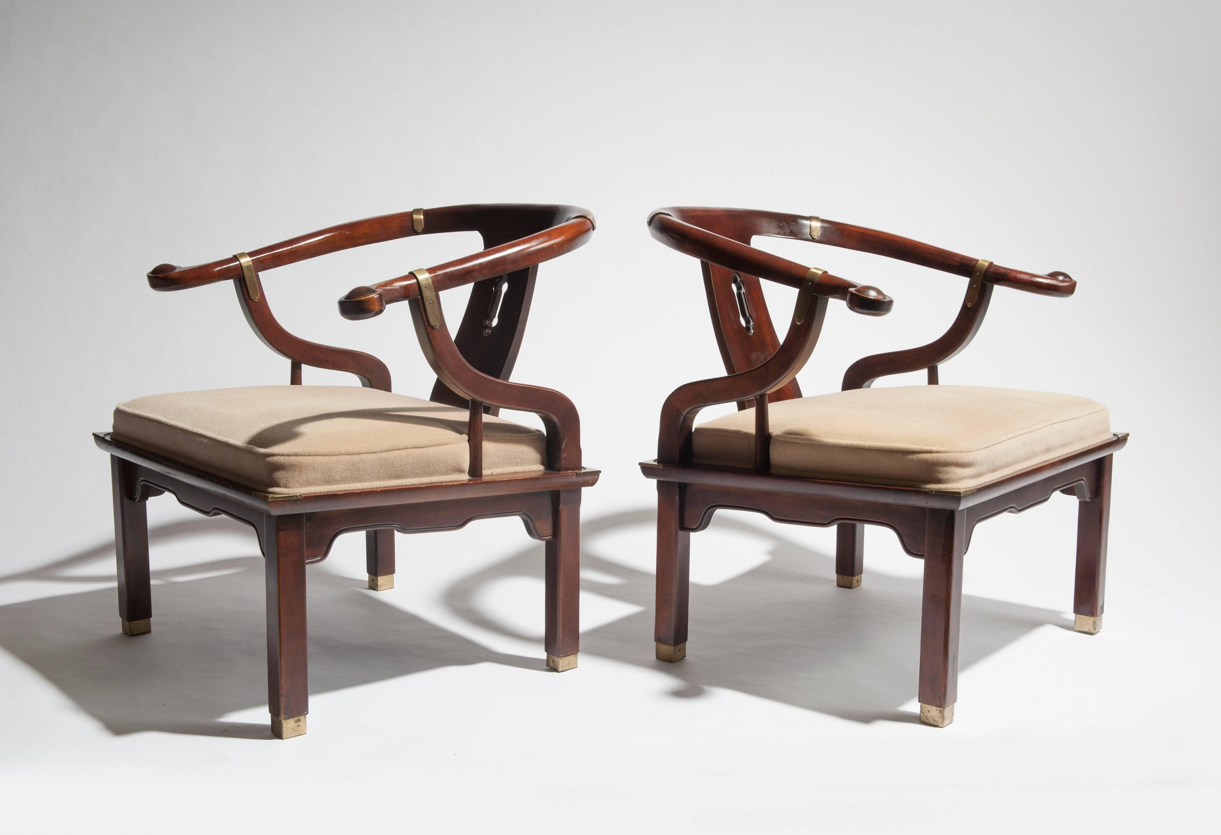 Appealing Pair Of Asian Ming Inspired Lounge Chairs By Century Furniture Of  North Carolina. Chairs