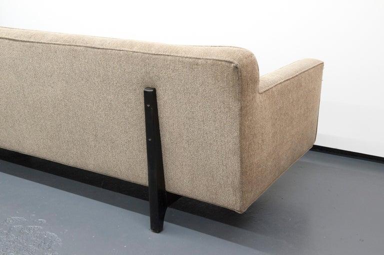 Classic Modern Long Dunbar Sofa with Brackets by Edward Wormley For Sale 1